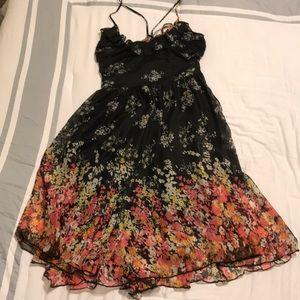 Black flowy dress with straps